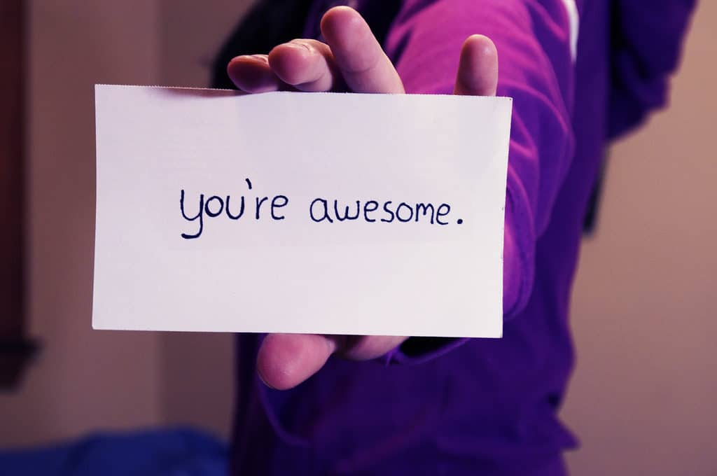 "Notecard that says ""you're awesome"" to give to someone who has everything for Christmas"