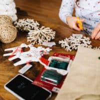 making holiday crafts