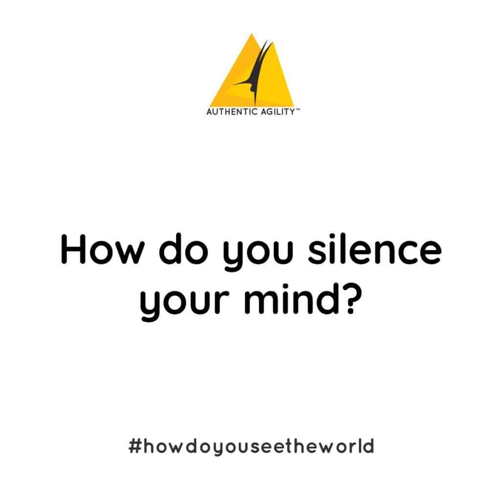 large display of question: how do you silence your mind?