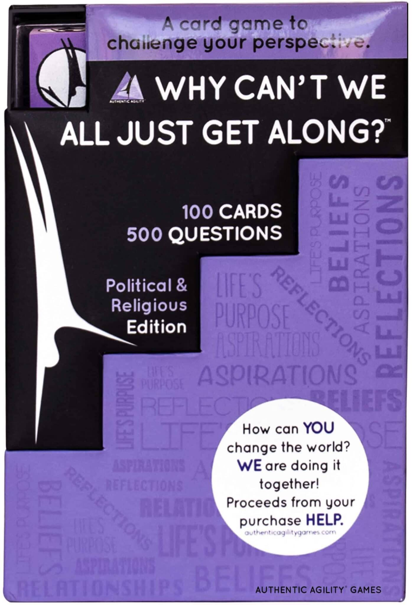 Authentic Agility Game's political and religious tabletop discussion game why can't we all just get along